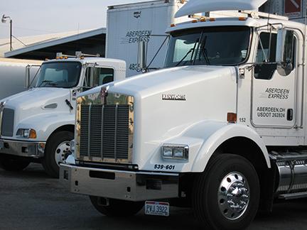 Semi Trucks Parked